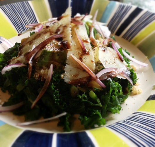 Kale Salad with Balsamic Drizzle & Pecorino