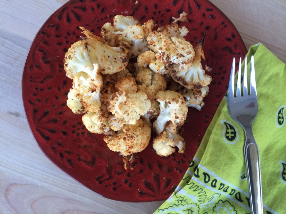 Roasted cauliflower with Parmesan + Paprika